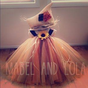 3T 4T Scarecrow Tutu Dress Halloween Costume